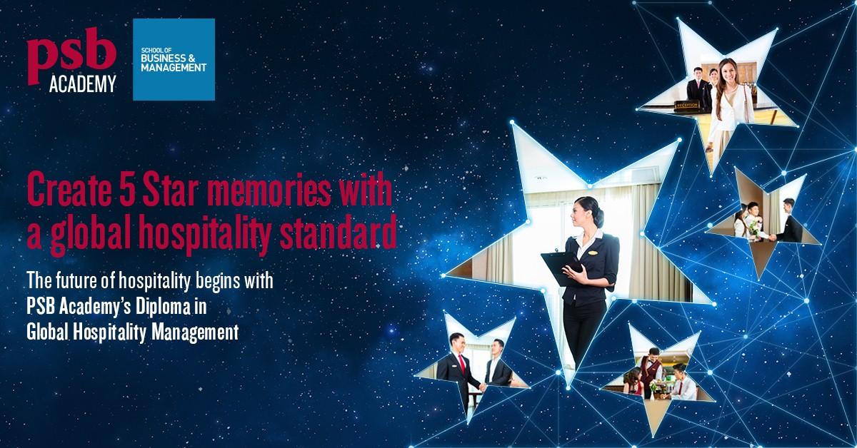 Thực tập hưởng lương 6 tháng với ngành Global Hospitality Management tại PSB Singapore